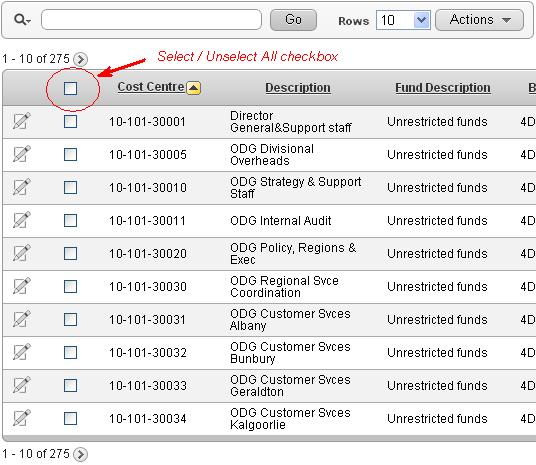 Select All / Unselect All Checkbox in Interactive Report