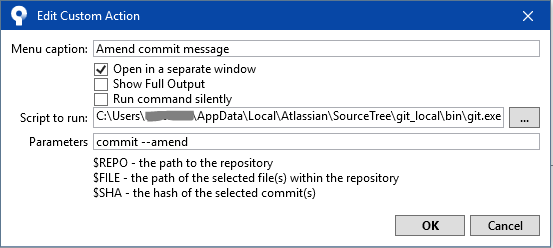 Amend commit message in SourceTree | Jeff Kemp on Oracle